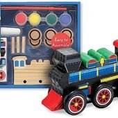 Decorate-Your-Own Wooden Train Kit