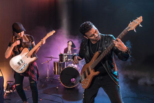 Rock band playing