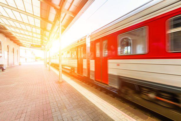 Train at Station in Vilnius