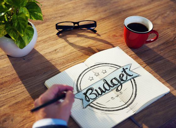 Businessman Brainstorming About Budget
