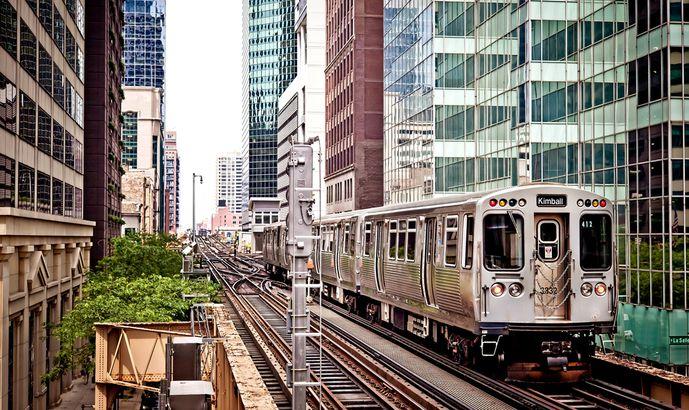 Train in Chicago
