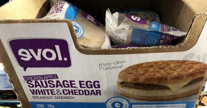 Evol Chicken Apple Sausage Breakfast Sandwich
