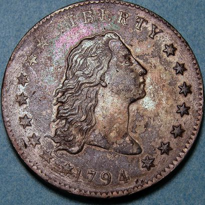 Flowing Hair Silver Dollar