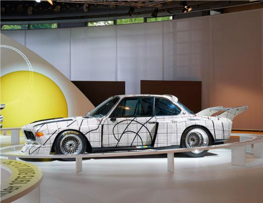 BMW art car designed by Frank Stella
