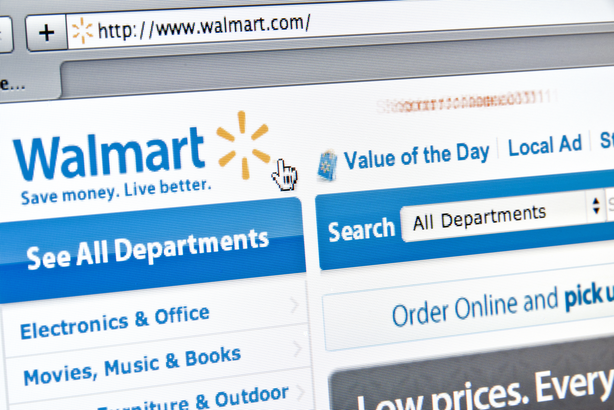 View of Walmart website