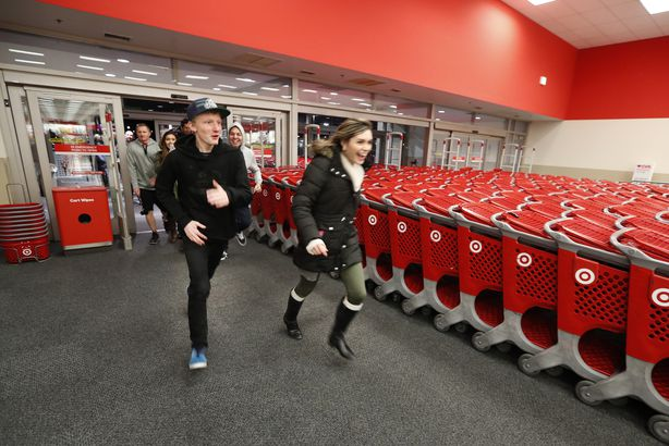 shoppers run into Target as it opened for 'Black Friday'