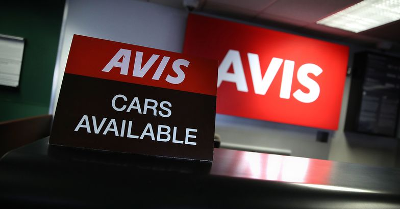 sign advertising available cars is displayed at an Avis rental car office on August 8, 2017 in San Francisco, California