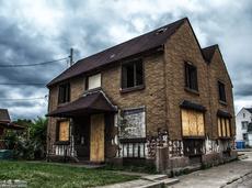 Abandoned duplex in Marktown