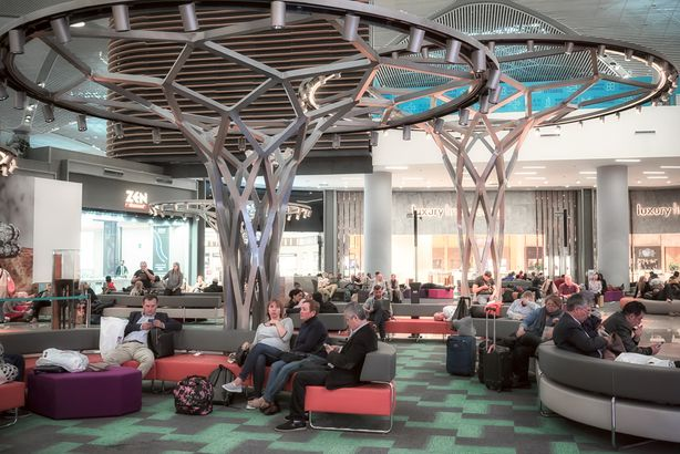 Istanbul Airport waiting area