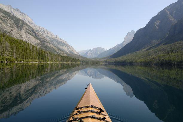 Kayaking in Kintla Lake