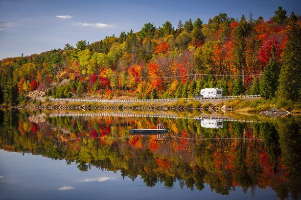 Fall at Lake of Two Rivers, Ontario, Canada
