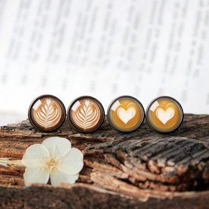 Latte art earrings