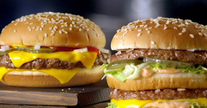 McDonald's cheeseburger and Big Mac