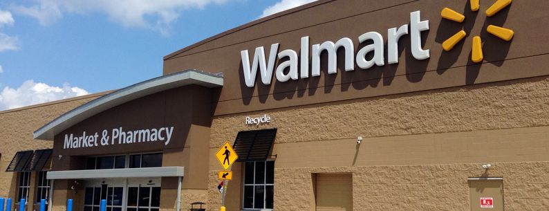 Front view of Walmart