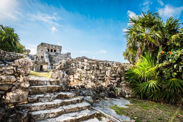 Mayan temple in Cancun
