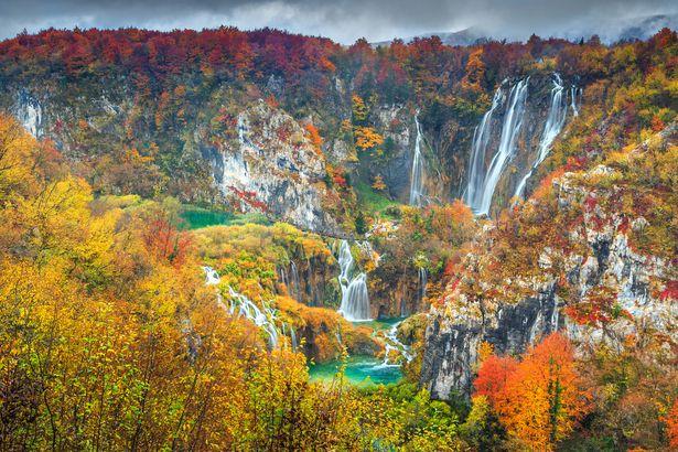 Fall in Plitvice Lakes, Croatia