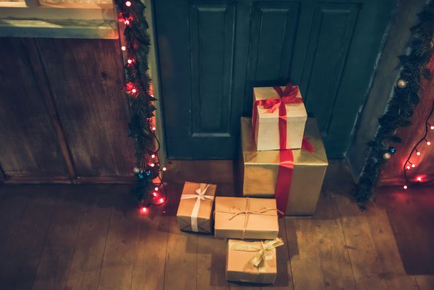 Presents on porch