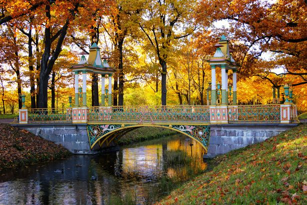 Fall at The Chinese Bridges in Pushkin, Russia