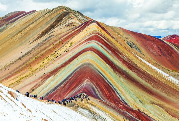 Rainbow mountains in Peru