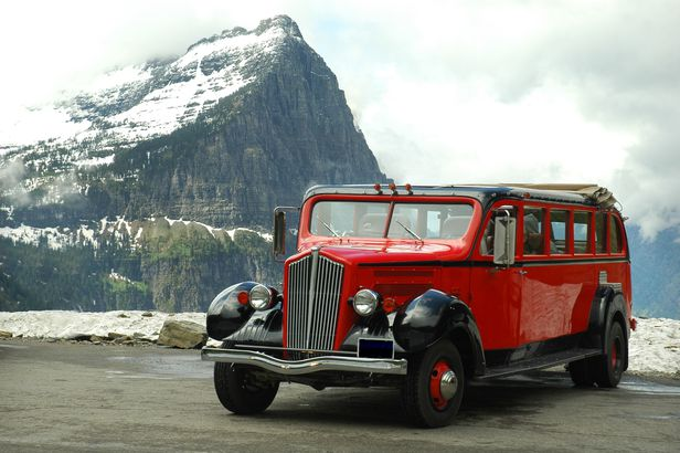Red Jammers Bus at Glacier National Park