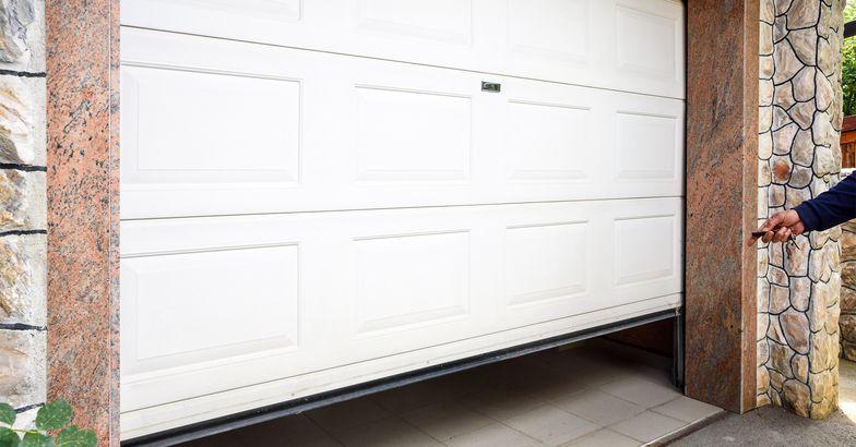 Opening a garage door