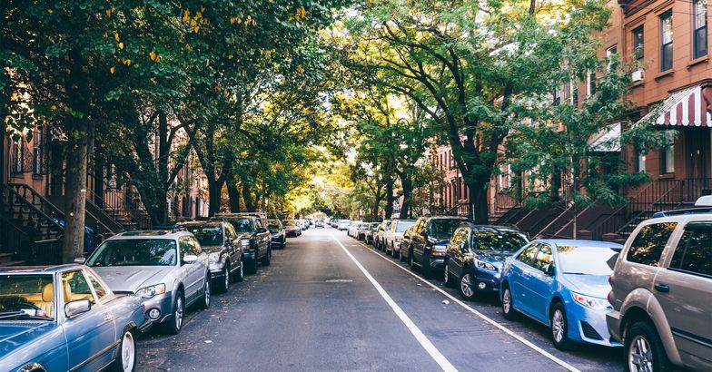 Cars parked on Brooklyn street