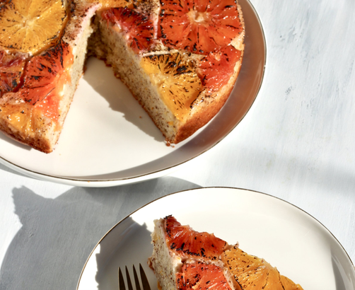 You need this citrus-almond upside down cake in your life