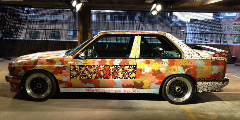 BMW art car designed by Michael Nelson Jagamarra