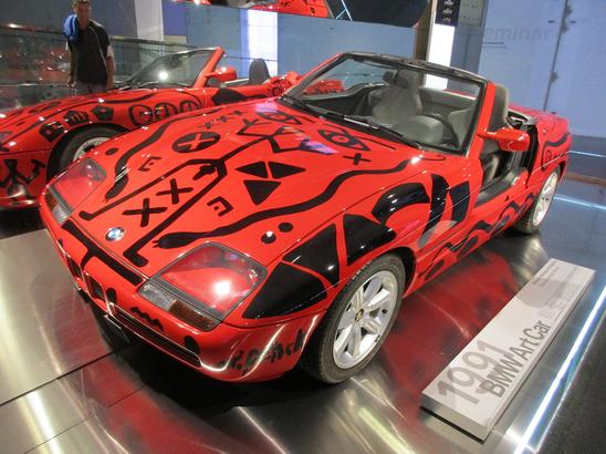 BMW art car designed by A.R. Penck