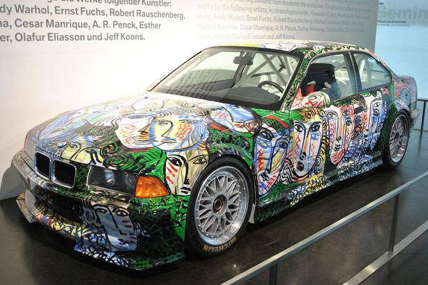 BMW art car designed by Sandro Chia