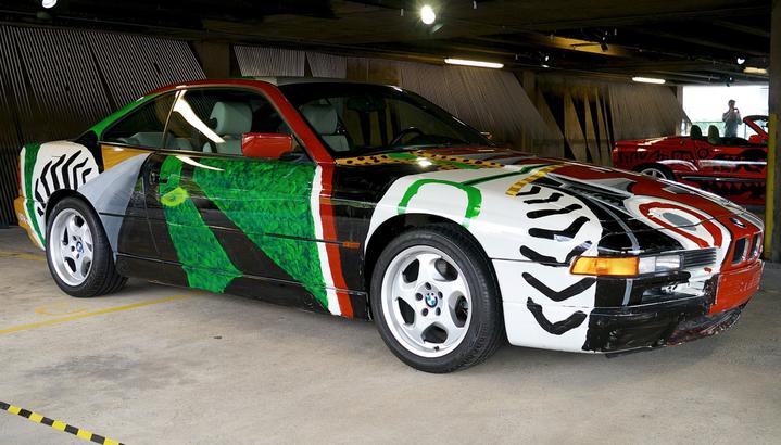 BMW art car designed by David Hockney