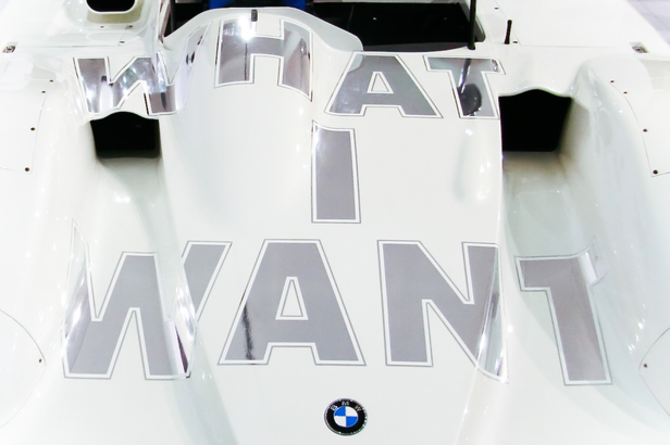 BMW art car designed by Jenny Holzer