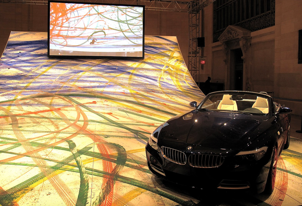 Robin Rhode's art created using a BMW