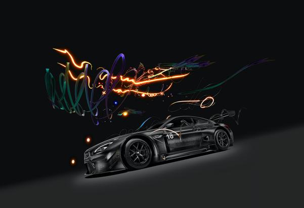 BMW art car designed by Cao Fei