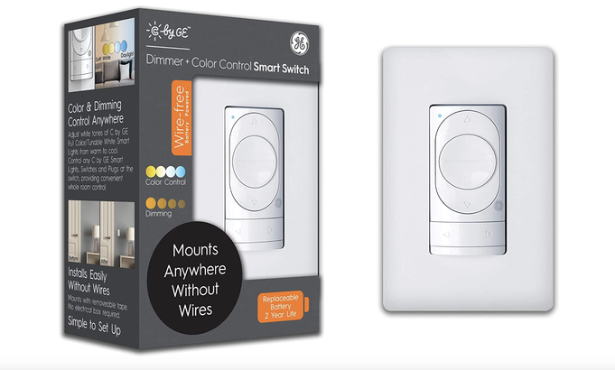C by GE WireFree Dimmer and Color Control Smart Switch
