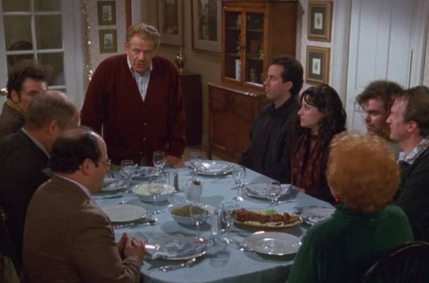Still image from Seinfeld episode 'The Strike' in which Festivus was introduced