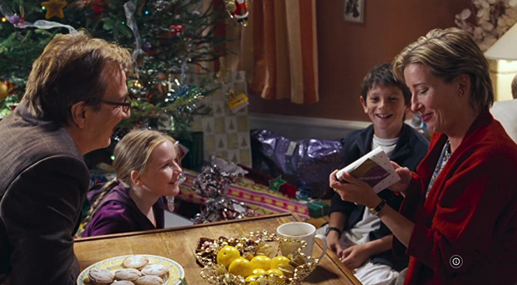 Alan Rickman and Emma Thompson in 'Love Actually'