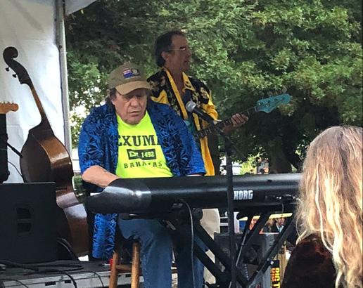 Commander Cody performing in Sonoma, Calif.