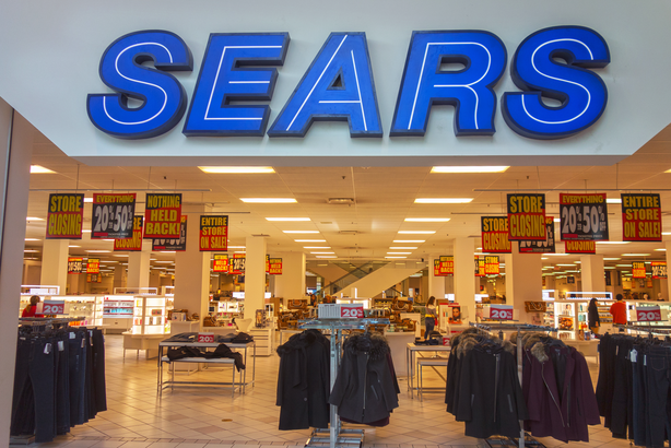 Sears store with closing signs