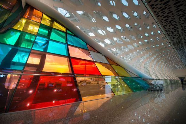 Shenzhen Airport color windows