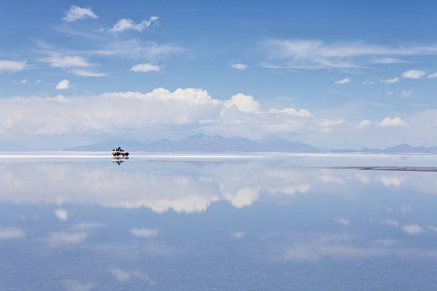 Sky mirror in Bolivia