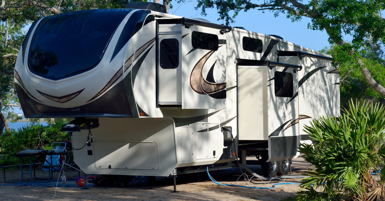 RV with slide rooms