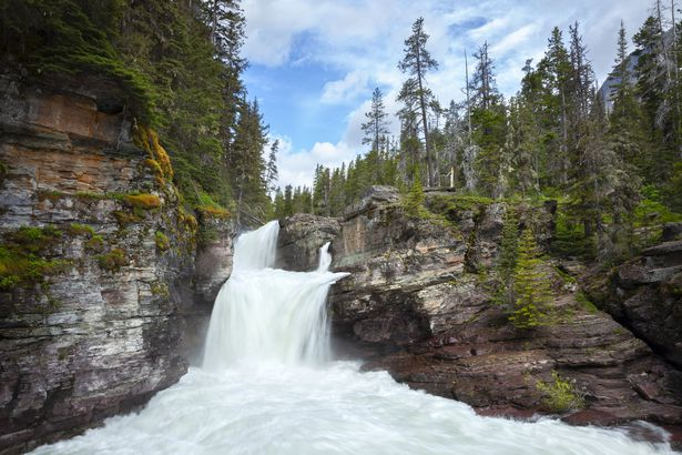 St. Mary falls in Glacier National Park