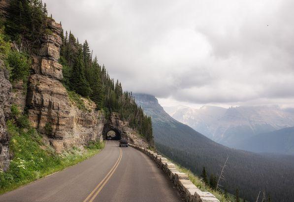 Sun Road in Glacier National Park