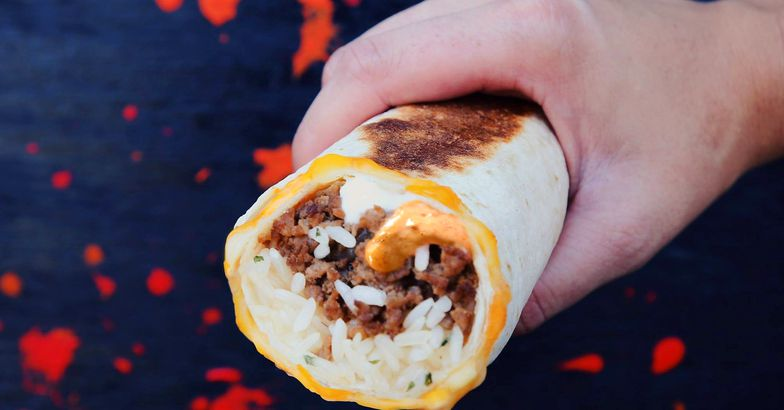 Grilled burrito from Taco Bell