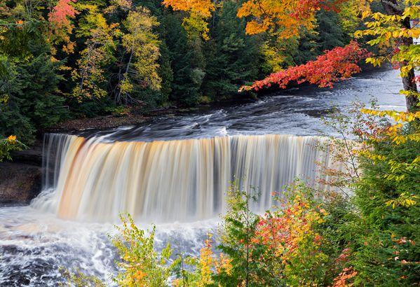 Fall in Tahquamenon Falls, Michigan