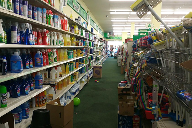 Interior Of A Dollar Tree Store