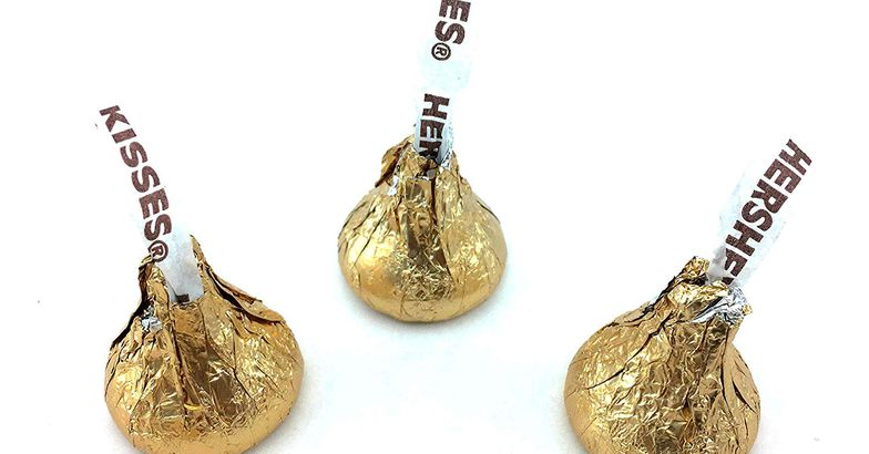 Gold Hershey kisses