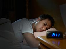 Man unable to fall asleep at night