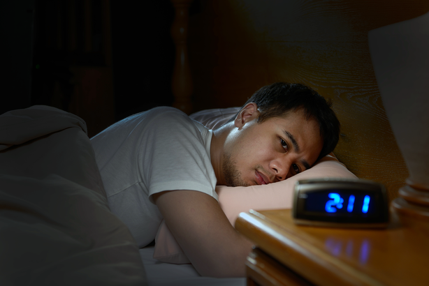 Man unable to fall asleep at night